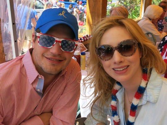 Gordon Huddleston and Kaleta Johnson at Pepi's July