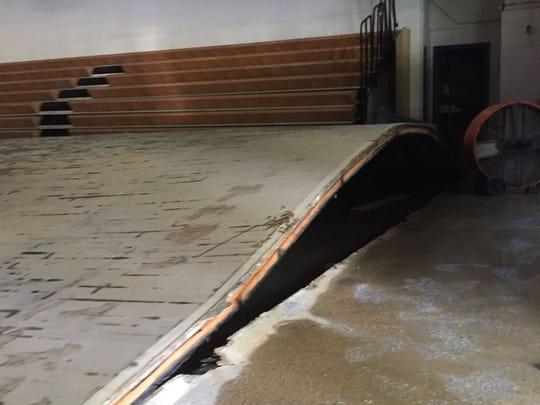 Flood waters have warped and destroyed Denham Springs