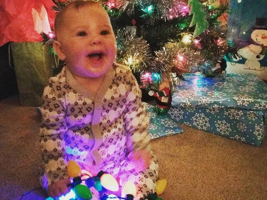 Riley's first Christmas.
