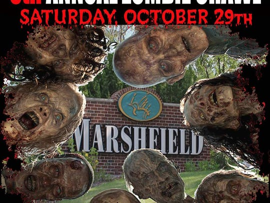 The fifth annual Zombie Pub Crawl takes place Saturday in downtown Marshfield.