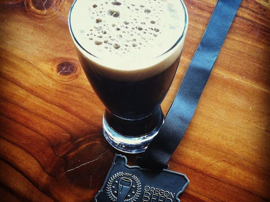 The Cast Iron CDA with its Oregon Beer Awards medal.