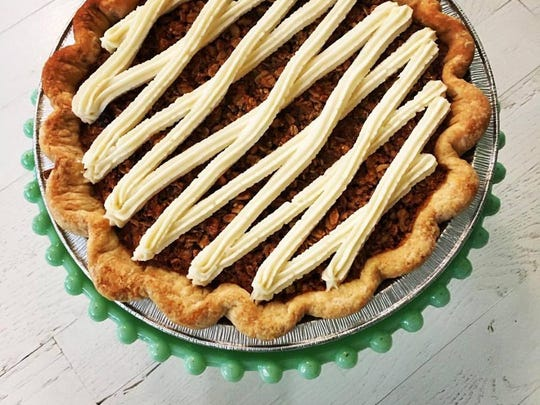 An oatmeal cream pie made by Jane Firkin for her new venture Firkin Pie Company.