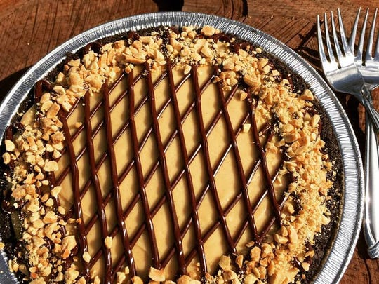 An peanut butter pie made by Jane Firkin for her new