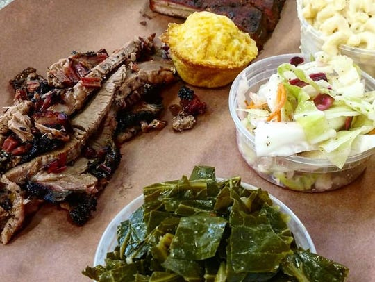 The menu at Red White & Que Smokehouse, coming soon