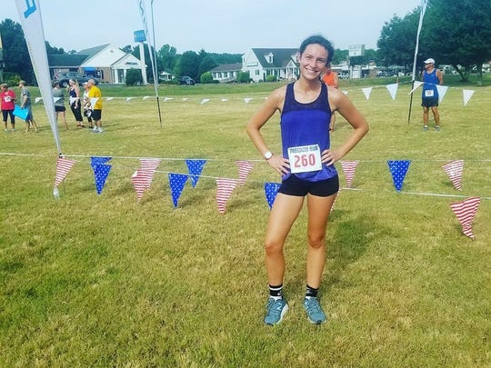 Chambersburg's Madi Ford, 17, clocked a 22:53.4 to win her age group at the OPA Freedom 5K in Ocean City, Md. on July 4.