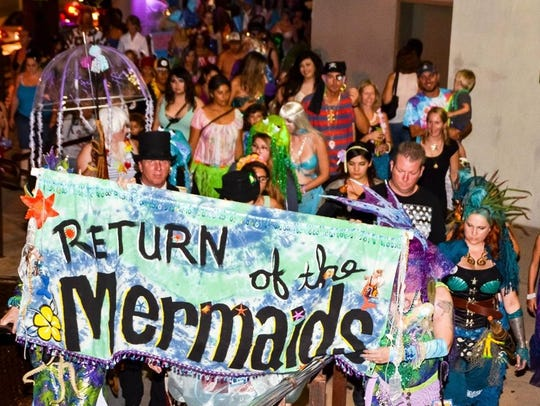 The Return of the Mermaids parade is held in Tucson.