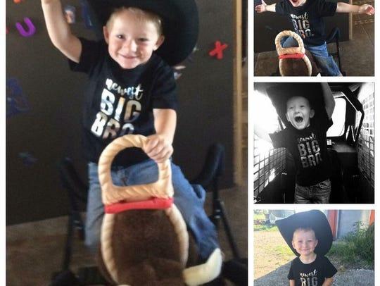 Photos of Jason Dent's son Gatlyn.