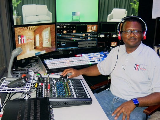 Mark Haylee at the controls of the new studio for Allied