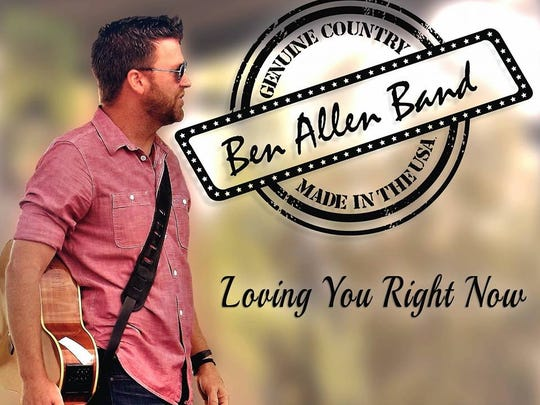 """Cover for Ben Allen Band's original single, """"Loving You Right Now."""""""