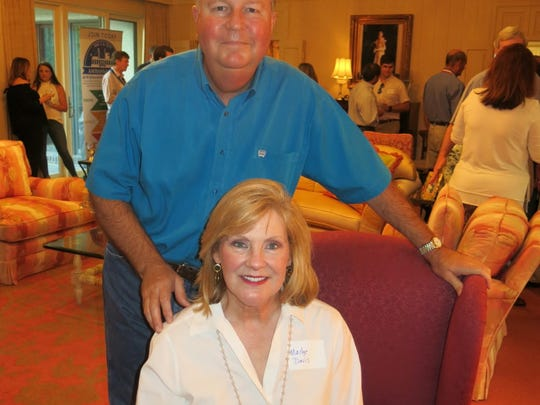 Dr. David and Madge Davis, hosts for the Ark-La-Tex Ambassadors party.