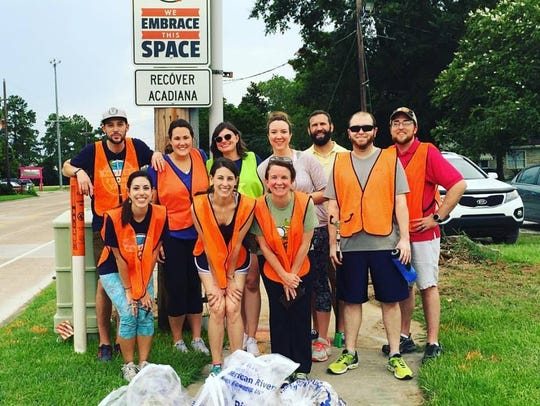 the705 and ReCover Acadiana volunteers pick up trash