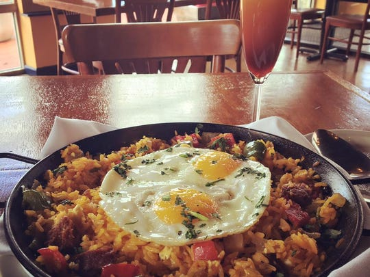 The Breakfast Paella is a featured dish for brunch