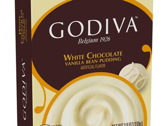 Godiva White Chocolate Pudding with Vanilla Bean.