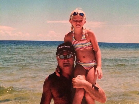 A photo Bailey Sellers posted of herself with father Michael Sellers, who died in 2013.