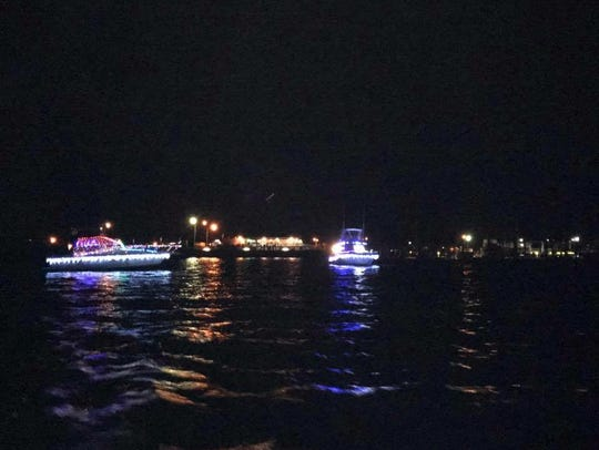 Cape Charles' annual lighted boat parade brings watercraft