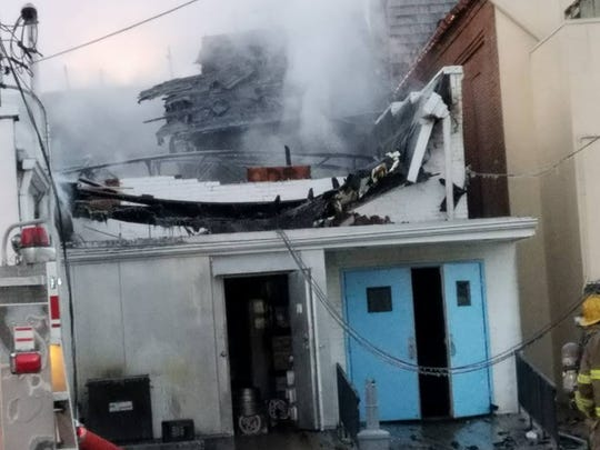 Much of the Joe Stickel Post 15 American Legion, 63 E. Main St., Waynesboro, was destroyed in a fire early Thursday.