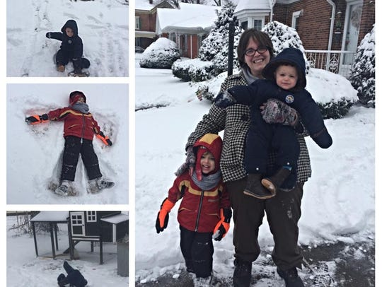 Abbey, Miles and Owen Doyle in the winter of 2015.