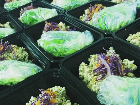 Chinese chicken lettuce cups from Fresh Fit Foods in