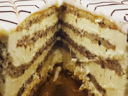 Estherhauzy cake from Cafe Vienna.