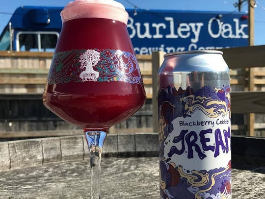 Burley Oak's blackberry cobbler J.R.E.A.M. which is a line of sour beers made with fruit and lactose.