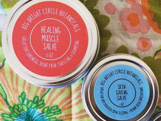 Healing salves can be used for ailments like sore muscles,