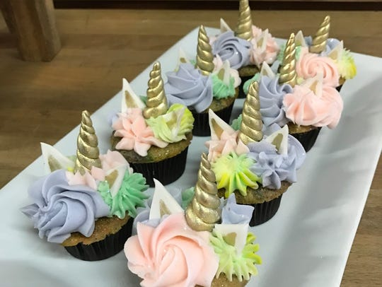 Unicorn cupcakes are a popular order at Sweet T's Bakeshop