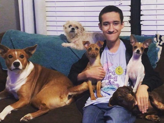 "Damien ""Zeke"" Gibson, a student at Kickapoo High School, spends a lot of time with his pets."