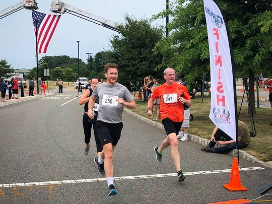 Governor Phil Murphy ran in the Annual Benefit 5K Run/Walk supporting veterans and their needs, on Sunday, July 15, at the East Brunswick Arts Center. First Lady Tammy Murphy also participated.