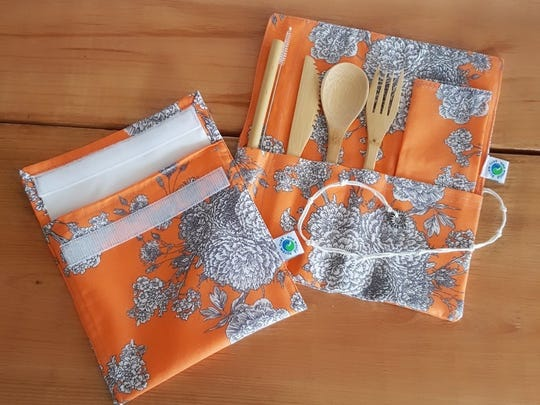 Fully reusable utensil bag and snack bag