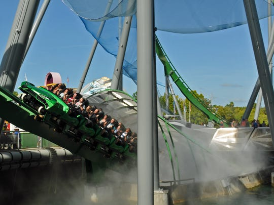 The Incredible Hulk roller coaster at Universal Studios