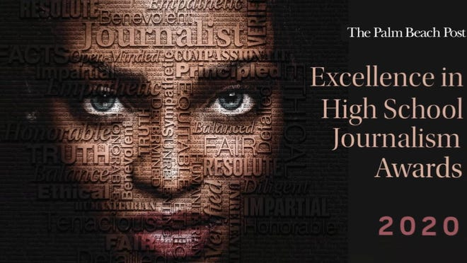 Outstanding writing, editing, photography and design by high school journalists were recognized Tuesday at The Palm Beach Post's annual Excellence in High School Journalism Awards.