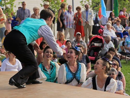 Members of the Utah Shakespeare Festival's Greenshow
