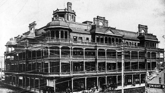 Phoenix's original Hotel Adams, in this photograph from 1904, was the city's first luxury hotel.