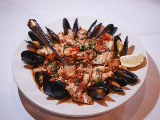 Seafood Creole at Nick's Bar and Grill in Clive.