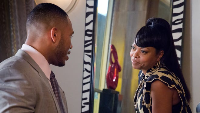 Andre Lyon (Trai Byers) chats with family matriarch Cookie (Taraji P. Henson) on the Season 2 premiere of 'Empire.'