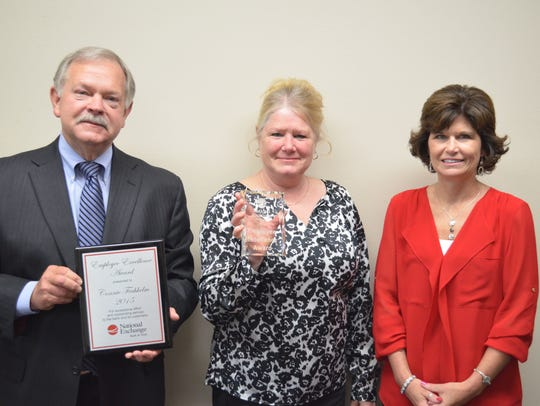 Connie Fechhelm was presented with the Employee Excellence