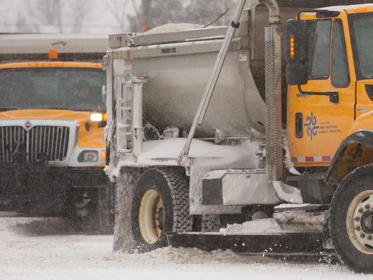City of Brighton Public Works snow plows hit the streets