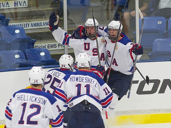 There were a lot of fun scenes like this for USA Hockey