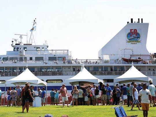 Cape May–Lewes Ferry is docked in Cape May, New Jersey during Brews by the Bay.