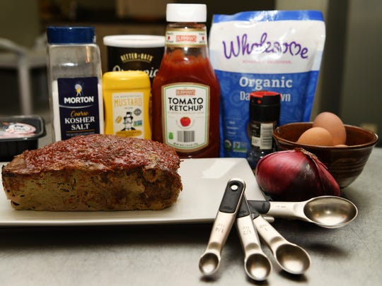 The ingredients for Julie Fortney's meatloaf, which