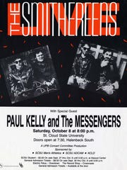 At left: Poster from The Smithereens' last performance at St. Cloud State University, in 1988.
