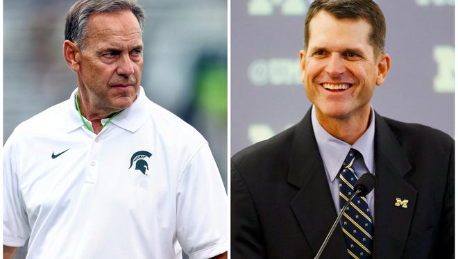 It wasn't the first time and it sure won't be the last, but the second time proved a charm in getting a substantive answer from Mark Dantonio on Michigan's hire of Jim Harbaugh.