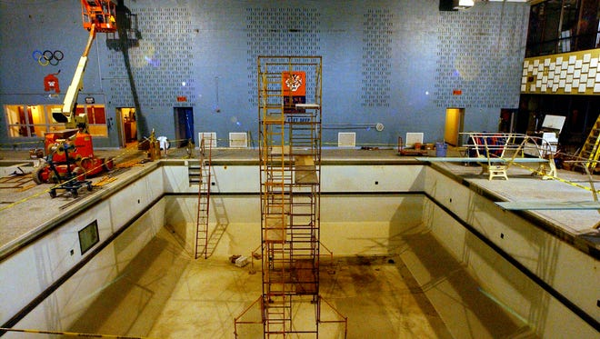 A community group has proposed raising funds to restore the pool at William Penn Senior High School, shown here in 2004 when a renovation project was under way at the school. The pool has been closed for several years and needs repairs.