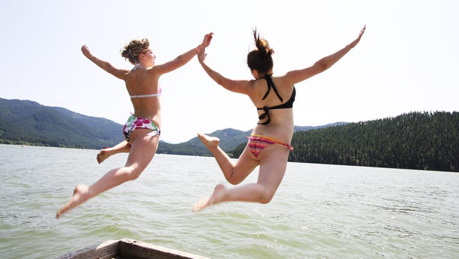 Detroit Lake State Park is one of many areas in the foothills of the Cascade and Coast ranges where visitors can take a dip in cool water.