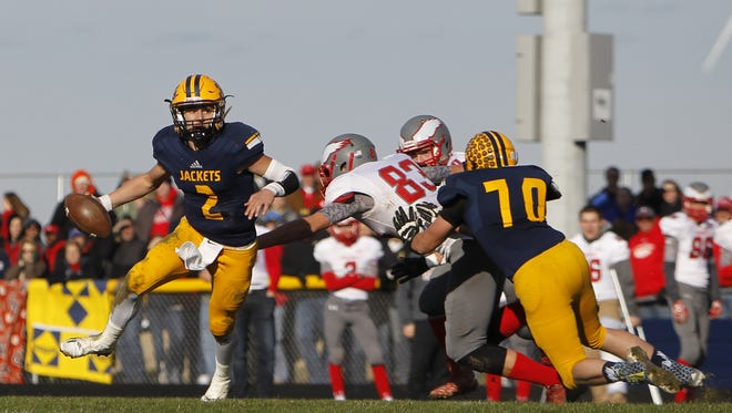 Senior quarterback / defensive back Joey Bentley is among a large group of returning players for reigning TVC West champion Ithaca.