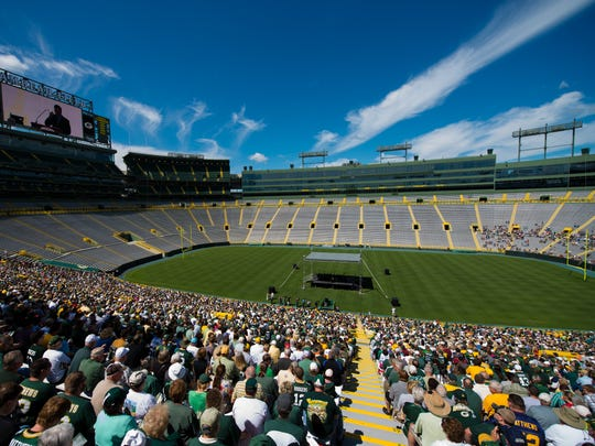 Green Bay Packers shareholders will return to the Lambeau Field seating bowl for Thursday's annual meeting.