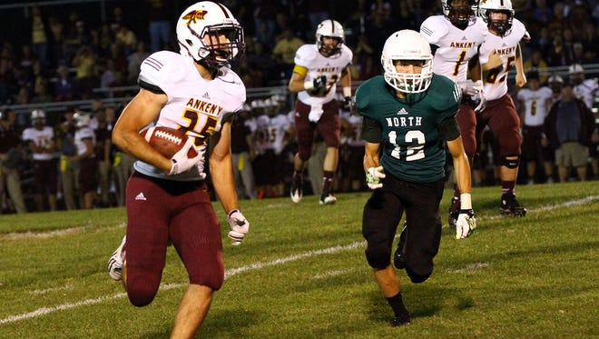 Riley Newberg is Ankeny's top rusher this season.