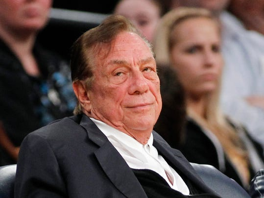 FILE- This is a Dec. 19, 2011 file photo showing Los Angeles Clippers owner Donald Sterling watching the Clippers play the Los Angeles Lakers during an NBA preseason basketball game in Los Angeles. The NBA has initiated a charge, Monday, May 19, 2014,  against Sterling, setting up a June 3 hearing after which owners could vote to terminate his ownership of the Los Angeles Clippers. (AP Photo/Danny Moloshok, File)
