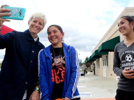 Palo Cedro native Megan Rapinoe (left) takes a selfie