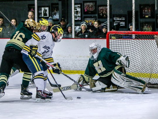 Howell's Nathan George got his start as a goalie during the year he lived in Australia.